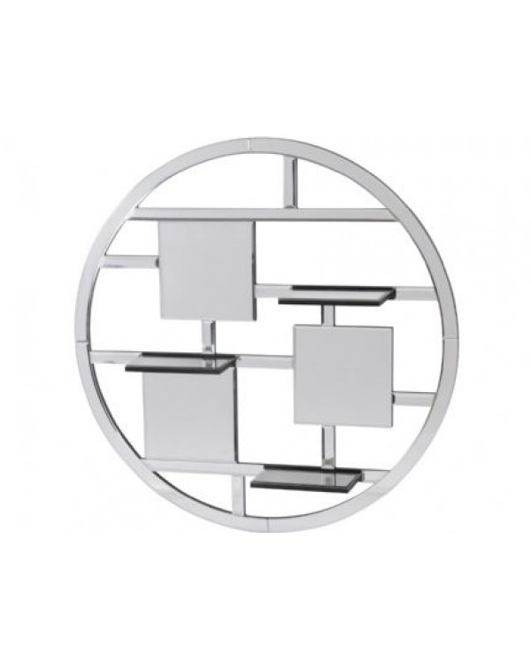 Blakely Round Mirrored Shelf